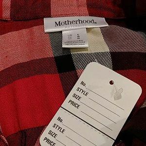 Motherhood Maternity Tops - NWOT Motherhood Maternity plaid shirt sz L